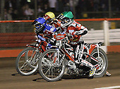 Heat 9 - Bjerre (green), Lanham (blue), Hefenbrock - Lakeside Hammers vs Peterborough Panthers - Sky Sports Elite League at Arena Essex, Purfleet - 31/08/07  - MANDATORY CREDIT: Gavin Ellis/TGSPHOTO - SELF-BILLING APPLIES WHERE APPROPRIATE. NO UNPAID USE. TEL: 0845 094 6026..