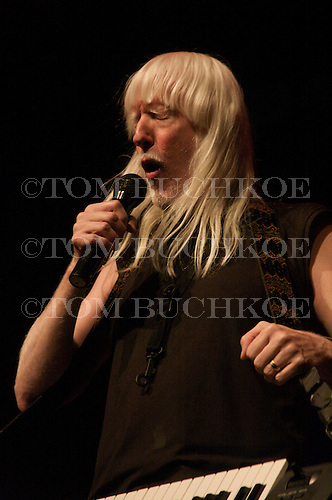 Edgar Winter rocks at the Calumet Theatre in Calumet Michigan.