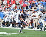 Ole Miss running back Brandon Bolden (34) runs the ball at Vaught-Hemingway Stadium in Oxford, Miss. on Saturday, October 2, 2010. Ole Miss won 42-35 to improve to 3-2..