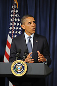 United States President Barack Obama delivers remarks during a visit to the Consumer Financial Protection Bureau in Washington DC, USA, on 06 January 2012. Obama placed Richard Cordray as head of the Consumer Financial Protection Bureau with a recess appointment 04 January 2012. Republicans in the Senate had blocked Cordray's confirmation in December 2011..Credit: Michael Reynolds / Pool via CNP