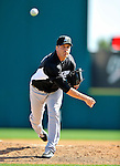 2 March 2011: Florida Marlins pitcher Shawn Hill in action during a Spring Training game against the Washington Nationals at Space Coast Stadium in Viera, Florida. The Nationals defeated the Marlins 8-4 in Grapefruit League action. Mandatory Credit: Ed Wolfstein Photo