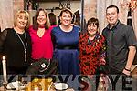 Deirdre O'Regan, Farmers Bridge, Tralee, who celebrated her 40th birthday in the Stone House restaurant, Tralee, l-r:  Joyce Barnet, Tonya White, Deirdre O'Regan, Mary O'Sullivan and Killian O'Regan.