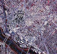 color infrared aerial photograph Dallas, Texas, 1995