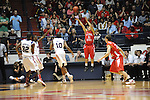 "Illinois State's Nic Moore (11) makes a three pointer in a National Invitational Tournament game at the C.M. ""Tad"" Smith Coliseum in Oxford, Miss. on Wednesday, March 14, 2012. Illinois State won 96-93 in overtime. (AP Photo/Oxford Eagle, Bruce Newman)"