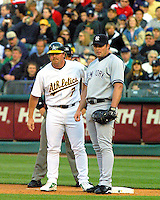 Jeremy and Jason Giambi just after Jason signed with the Yankee's..photo by Ron Riesterer