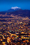 Mt Illiamani_Dusk_La Paz_Bolivia