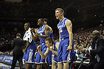 Players on the bench scream as Brandon Knight makes a shot that puts UK ahead in the end of the second half of UK's Sweet 16 NCAA tournament win, 62-60 against 1 seed Ohio State at the Prudential Center in Newark, New Jersey on Friday, March 25, 2011.  Photo by Britney McIntosh | Staff