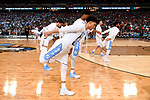 GLENDALE, AZ - APRIL 03: The North Carolina Tar Heels basketball players stretch prior totip-off during the 2017 NCAA Men's Final Four National Championship game at University of Phoenix Stadium on April 3, 2017 in Glendale, Arizona.  (Photo by Jamie Schwaberow/NCAA Photos via Getty Images)