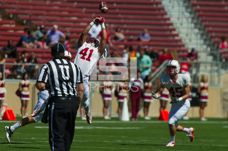 Stanford, CA. April 12, 2014. Stanford Football Cardinal and White Spring Game. White won over Cardinal 47-23.
