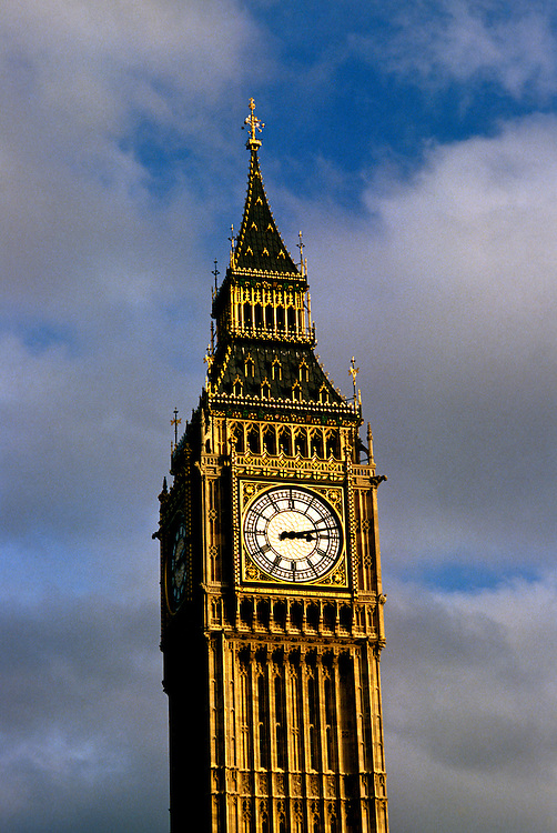 England: Europe, London, Big Ben clock,  Photo: london103.Photo copyright Lee Foster, www.fostertravel.com, 510/549-2202, lee@fostertravel.com