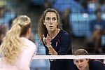 10 September 2015: Stanford's Ivana Vanjak (GER). The University of North Carolina Tar Heels hosted the Stanford University Cardinal at Carmichael Arena in Chapel Hill, NC in a 2015 NCAA Division I Women's Volleyball contest. North Carolina won the match 25-17, 27-25, 25-22.