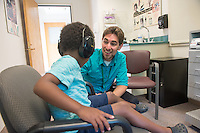 20140729 CSD Student works with patient at Eleanor M. Luse Center