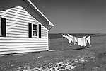 Modular house, clothesline, and field, Clinton County, PA. 1975