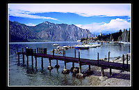 Malcesine, Lake Garda, Italy - June 1997<br /> <br /> Malcesine is municipality in the Province of Verona in the Italian region of Veneto, located on the shores of Lake Garda, about 120 km northwest of Venice and about 40 km northwest of Verona.