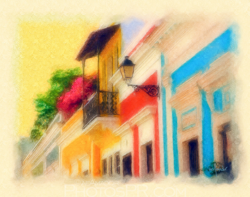 Digital Oil Paintings: Puerto Rico