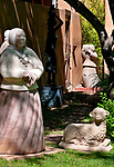 Sculptures in the garden of an art gallery in Santa Fe, New Mexico
