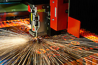 Precision Laser Cutting equipment in action.