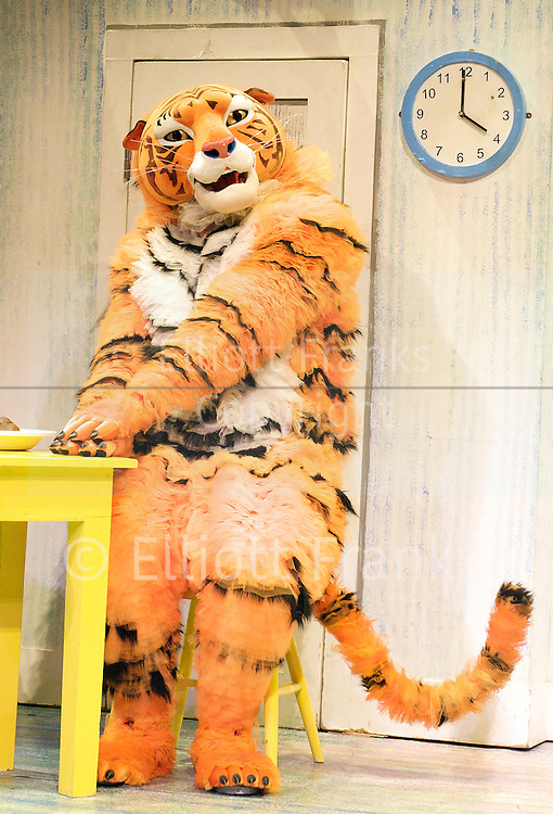 The Tiger Who Came To Tea<br /> by  Judith Kerr<br /> at the Vaudeville Theatre, London, Great Britain <br /> Press photocall<br /> 6th July 2011 <br /> <br /> Alan Atkins (as Tiger / Daddy)<br /> <br /> <br /> Photograph by Elliott Franks