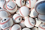 21 June 2011: Baseballs lie ready for batting practice prior to a game between the Seattle Mariners and the Washington Nationals at Nationals Park in Washington, District of Columbia. The Nationals rallied from a 5-1 deficit, scoring 5 runs in the bottom of the 9th, to defeat the Mariners 6-5 in inter-league play. Mandatory Credit: Ed Wolfstein Photo