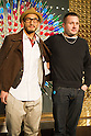 March 16, 2012, Tokyo, Japan - Hidetoshi Nakata (left) and Kim Jones (right) attend a photo call for a Kim Jones event at the Louis Vuitton store in Roppongi Hills. (Photo by Christopher Jue/AFLO)