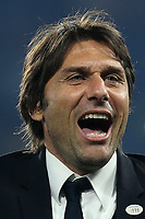 Chelsea Manager, Antonio Conte celebrates at the final whistle during Chelsea vs Watford, Premier League Football at Stamford Bridge on 15th May 2017