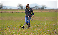 BNPS.co.uk (01202 558833)<br /> Pic: PhilYeomans/BNPS<br /> <br /> Slug patrol - boffin Emily Forbes tracks slugs...very slowly.<br /> <br /> Researchers are hoping to save the farming industry millions of pounds by fitting slugs with tracking devices for the first time - The subterranean movements of the destructive creatures has been largely unknown till now.<br /> <br /> The pests, which cost arable farmers tens of millions a year treating crops, have been fitted with a device similar to the microchips used in cats and dogs so scientists can learn more about their movements.<br /> <br /> The three-year project at Harper Adams University in Edgmond, Shropshire, will enable them to track the slugs even when they are underground, giving them a more accurate picture of the gastropods' behaviour.
