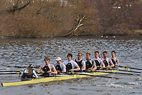 010 IM1.8+ Molesey BC ..Reading University Boat Club Head of the River 2012. Eights only. 4.6Km downstream on the Thames form Dreadnaught Reach and Pipers Island, Reading. Saturday 25 February 2012.