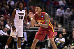 MILWAUKEE, WI - MARCH 18: Iowa State Cyclones guard Donovan Jackson (4) prepares to defend during the second half of the 2017 NCAA Men's Basketball Tournament held at BMO Harris Bradley Center on March 18, 2017 in Milwaukee, Wisconsin. (Photo by Jamie Schwaberow/NCAA Photos via Getty Images)