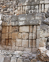 Northwest Temple, Detail of Rhombi decoration, Great Acropolis, Puuc architectural style, Late Classic Period, 600 - 900 AD, Edzna, Campeche, Mexico. Picture by Manuel Cohen