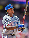 1 June 2014: Texas Rangers third baseman Adrian Beltre in action against the Washington Nationals at Nationals Park in Washington, DC. The Rangers shut out the Nationals 2-0 to salvage the third the third game of their 3-game inter-league series. Mandatory Credit: Ed Wolfstein Photo *** RAW (NEF) Image File Available ***