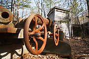Abandoned machinery at the Redstone Granite quarry in Conway, New Hampshire.