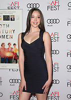 "Hollywood, CA - NOVEMBER 16: Ella Beatty, At AFI FEST 2016 Presented By Audi - A Tribute To Annette Bening And Gala Screening Of A24's ""20th Century Women"" At The TCL Chinese Theatre, California on November 16, 2016. Credit: Faye Sadou/MediaPunch"