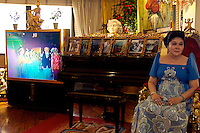 First former lady of the Philippines Imelda  Marcos, in her appartement in 2006