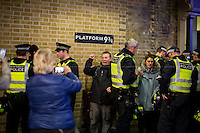"24.10.2015 - ""Solidarity with Calais Migrants - Protest at Eurostar, St Pancras International"""