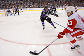 Pavel Datsyuk (Detroit Red Wings, #13) vs Anze Kopitar (Los Angeles Kings, #11) during ice-hockey match between Los Angeles Kings and Detroit Red Wings in NHL league, February 28, 2011 at Staples Center, Los Angeles, USA. (Photo By Matic Klansek Velej / Sportida.com)