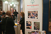 """Selling raffle tickets.  Special Olympics Surrey put on a show,   """"Beyond the Stars"""", at the Rose Theatre, Kingston upon Thames to raise money for the  SOGB team.  The Special Olympics are for athletes with learning disabilities."""