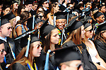 05/19/2013 - Medford, MA - Graduates attend Sunday morning's Tufts University 157th Commencement ceremony held on the Medford/Somerville campus, on May 19, 2013. (Matthew Modoono for Tufts University)