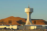 Gobabeb is a training and research center in the Central Namib Desert, Namibia. The station is about 300km southwest of Windhoek, and some 70km (120km by road) from Walvis Bay, 55km inland and well within the borders of the Namib Naukluft National Park.