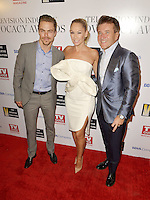 HOLLYWOOD, CA - SEPTEMBER 16: Derek Hough, Kim Herjavec and Robert Herjavec attend The Television Industry Advocacy Awards benefiting The Creative Coalition hosted by TV Guide Magazine & TV Insider at the Sunset Towers Hotel on September 16, 2016 in Hollywood, CA. Credit: Koi Sojer/Snap'N U Photos/MediaPunch