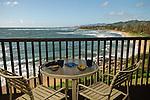 View from a condo overlooking Wailua Bay, Kauai, Hawaii