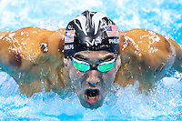 Picture by Alex Whitehead/SWpix.com - 09/08/2016 - 2016 Rio Olympic Games - Swimming - Olympic Aquatics Stadium, Rio de Janeiro, Brazil - USA's Michael Phelps wins Gold in the Men's 200m Butterfly Final.