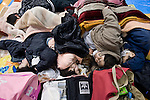 Around 300 people, many affected by the explosion at Fukushima No. 1 Nuclear Power Plant, take shelter at a refuge site at a local gymnasium about 30 km from the nuclear accident in Iwaki City, Fukushima, Japan on 12 March, 2011. Photographer: Robert Gilhooly