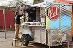 Chef/Owner Kevin Sandri of the Garden State Food Cart in the Sellwood neighborhood in Portland, OR