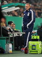 FUSSBALL   DFB POKAL   SAISON 2011/2012  ACHTELFINALE  Borussia Moenchengladbach - FC Schalke 04         21.12.2011 Trainer Seppo EICHKORN (Schalke) enttaeuscht