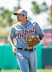 16 March 2014: Detroit Tigers infielder Nick Castellanos in action during a Spring Training Game against the Washington Nationals at Space Coast Stadium in Viera, Florida. The Tigers edged out the Nationals 2-1 in Grapefruit League play. Mandatory Credit: Ed Wolfstein Photo *** RAW (NEF) Image File Available ***