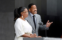 Oprah Winfrey, and Will Smith speak at the opening ceremony of the Smithsonian National Museum of African American History and Culture on September 24, 2016 in Washington, DC. The museum is opening thirteen years after Congress and President George W. Bush authorized its construction. <br /> Credit: Olivier Douliery / Pool via CNP / MediaPunch