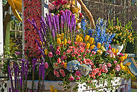 Flower covered floats used in 2010  Rose Parade, Tournament of Roses, Pasadena;
