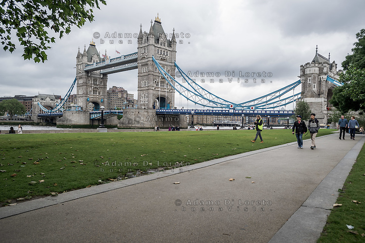 The Tower Bridge in London City before the Brexit Referendum, on june, 2016. Photo: Adamo Di Loreto/buenaVista*photo