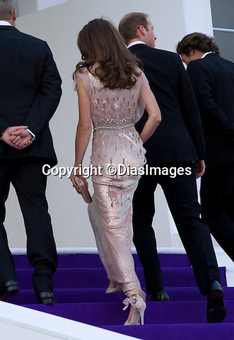 """PRINCE WILLIAM & CATHERINE, DUCHESS OF CAMBRIDGE.attend the 10th ARK Gala Dinner, Kensington Palace Gardens, London_09/06/2011.This was the couple's first official engagement since the wedding.Mandatory Photo Credit: ©Dias/DIASIMAGES..**ALL FEES PAYABLE TO: """"NEWSPIX INTERNATIONAL""""**..PHOTO CREDIT MANDATORY!!: DIASIMAGES(Failure to credit will incur a surcharge of 100% of reproduction fees)..IMMEDIATE CONFIRMATION OF USAGE REQUIRED:.DiasImages, 31a Chinnery Hill, Bishop's Stortford, ENGLAND CM23 3PS.Tel:+441279 324672  ; Fax: +441279656877.Mobile:  0777568 1153.e-mail: info@diasimages.com"""