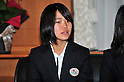 Sara Takanashi (JPN), .JANUARY 24, 2011 - Youth Olympic : Japan national team of Youth Olympic visit Education, Culture, Sports, Science and Technology Ministry after returning Innsbruck 2012 Winter Youth Olympic Games in Tokyo, Japan. (Photo by Jun Tsukida/AFLO SPORT) [0003].